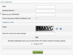 link aadhar card with pan card